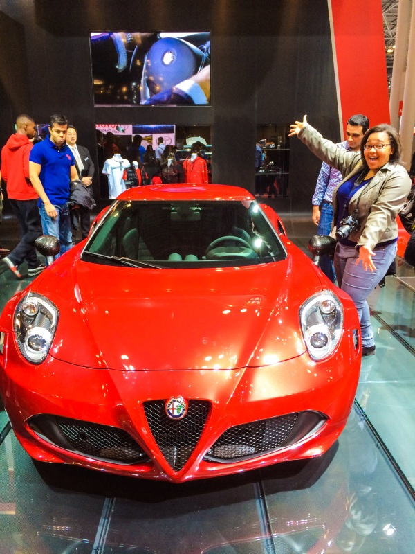 Look at this beautiful Alfa Romeo 4C! Photo creds: Alicia.