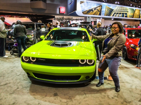 Candy paint! I'm in love with this green apple Dodge Challenger. Photo creds: Alicia.