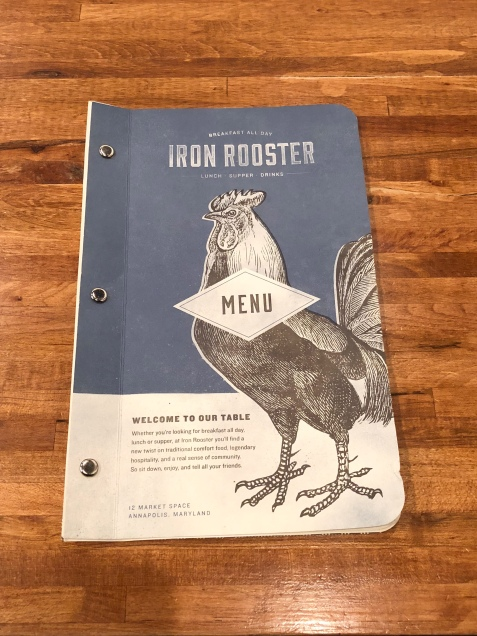 Iron Rooster's menu