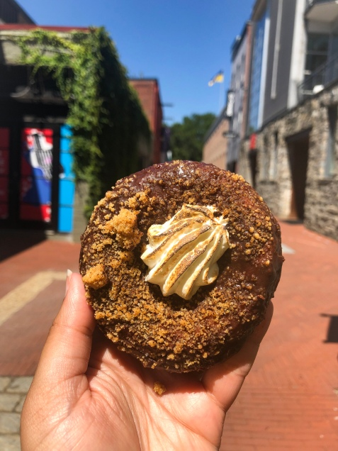 District Doughnut's seasonal Nutella S'more doughnut.   Apple of My Eye