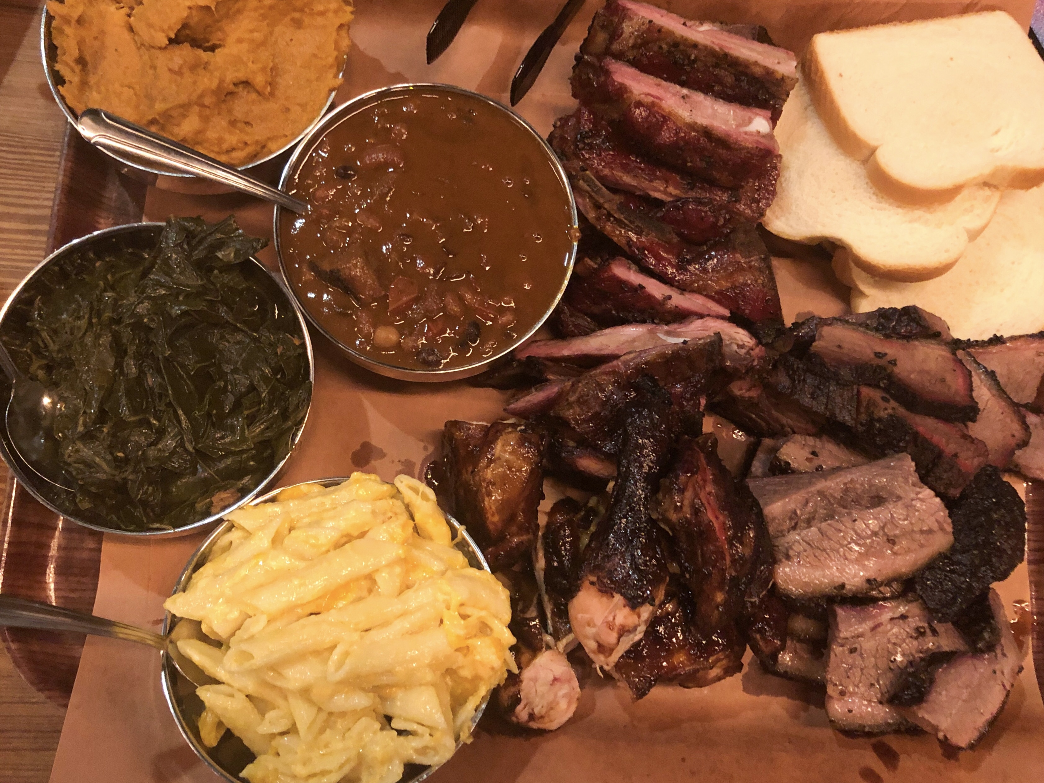 Hill Country BBQ's all-you-can-eat option includes unlimited chicken, short ribs, roast beef, and sides.